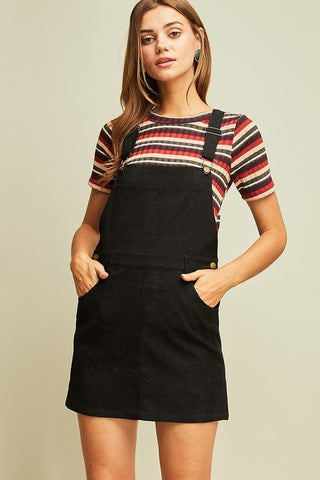 Throwback Overalls Dress (more colors)