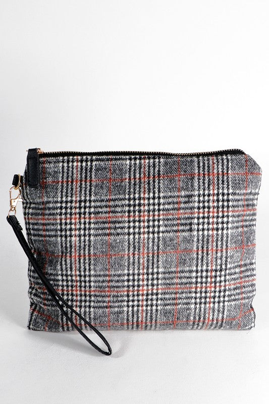 Plaid Zipper Pouch/Wristlet (more colors)