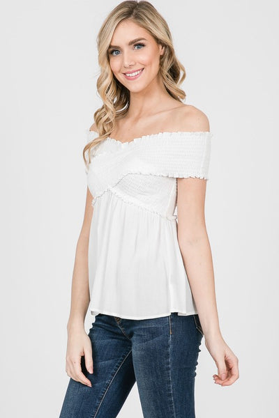 Simply Sunkissed Off-Shoulder Top (more colors)