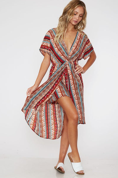 All Out Aztec Romper Dress