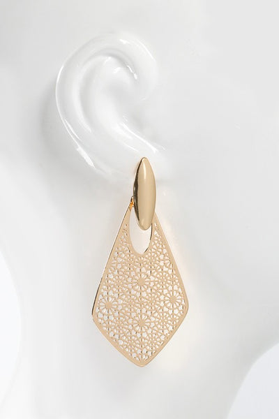 Marquee Filigree Dangle Earrings