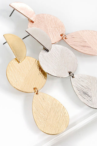 Textured Metal Geo Dangle Earrings (more colors)