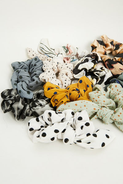 Knotted Hair Scrunchies