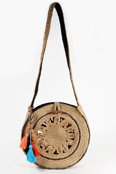 Handwoven Jute Oversize Circle Bag