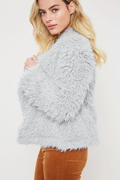 Almost Famous Faux Fur Grey Jacket