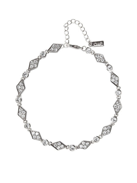 Cubic Zirconia and silver bracelet in a pave diamond and circle sequence pattern. Elegant and fun. Perfect for brunch, night out, or any special occasion. Especially a wedding.