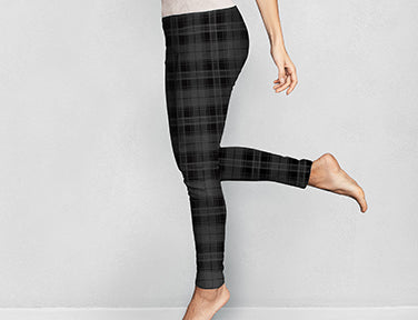 Patterned Fleece Lined Leggings by Britt's Knits (more options)