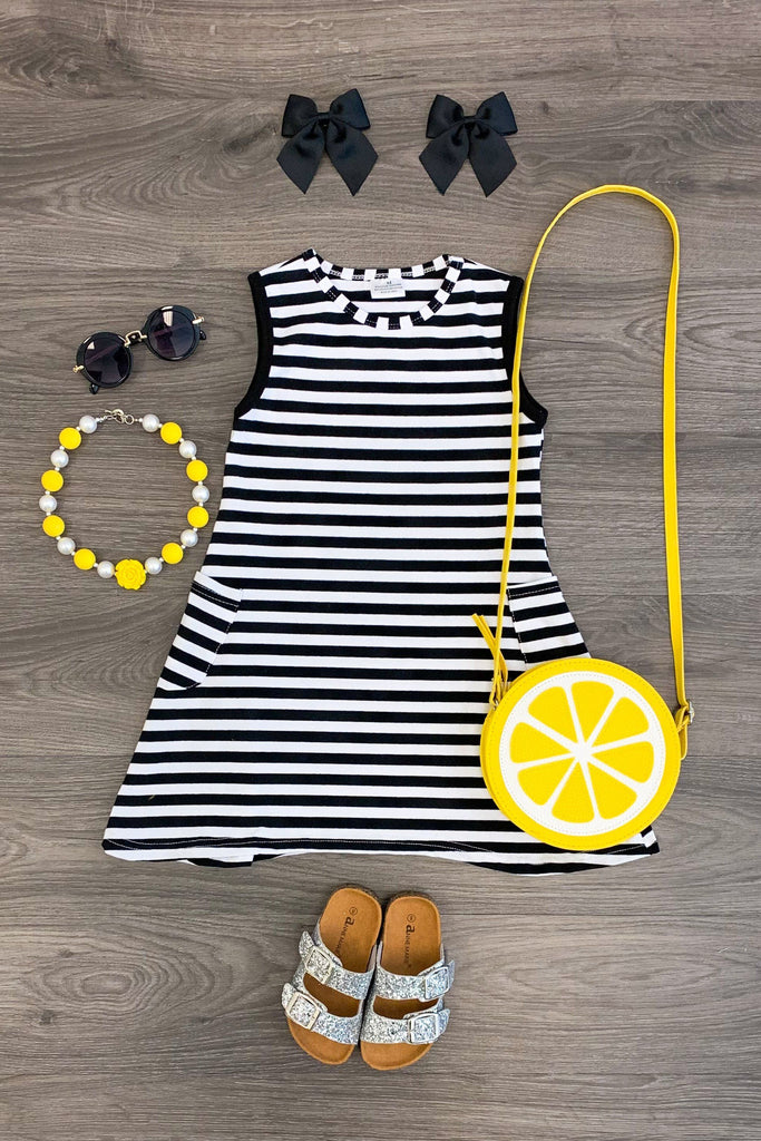 Black & White Stripe Tank Dress