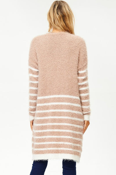 Cozy On Down Furry Long Open Cardigan (more colors)