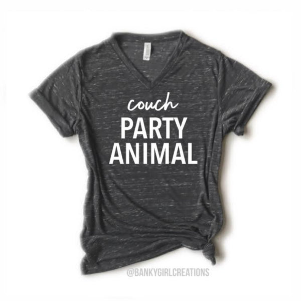 "Banky Girl Creations - ""Couch Party Animal"" Tee"