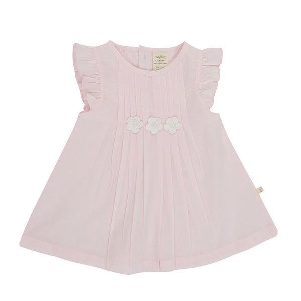 Tiny Twig - Marshmallow - Vienna Pleated Dress with Bloomer