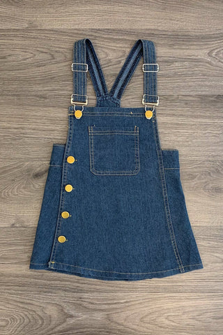 Dark Wash Denim Overall Jumper