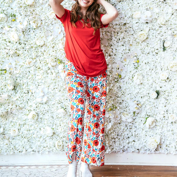 Poppy Field Leisure Time Lounge Pants by Hello Mello