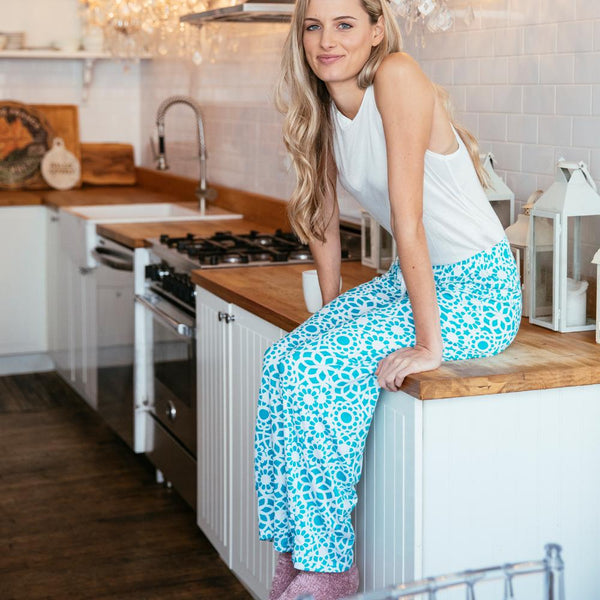 Tranquil Turquoise Leisure Time Lounge Pants by Hello Mello
