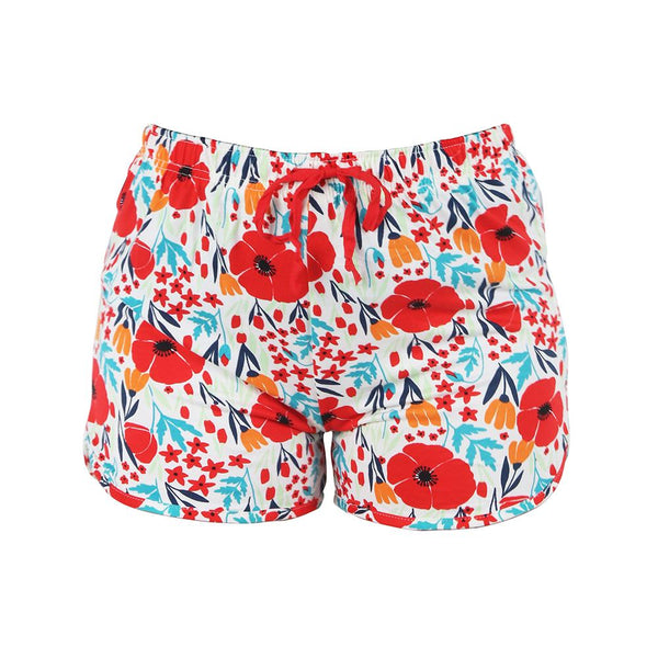 Poppy Field Leisure Time Lounge Shorts by Hello Mello