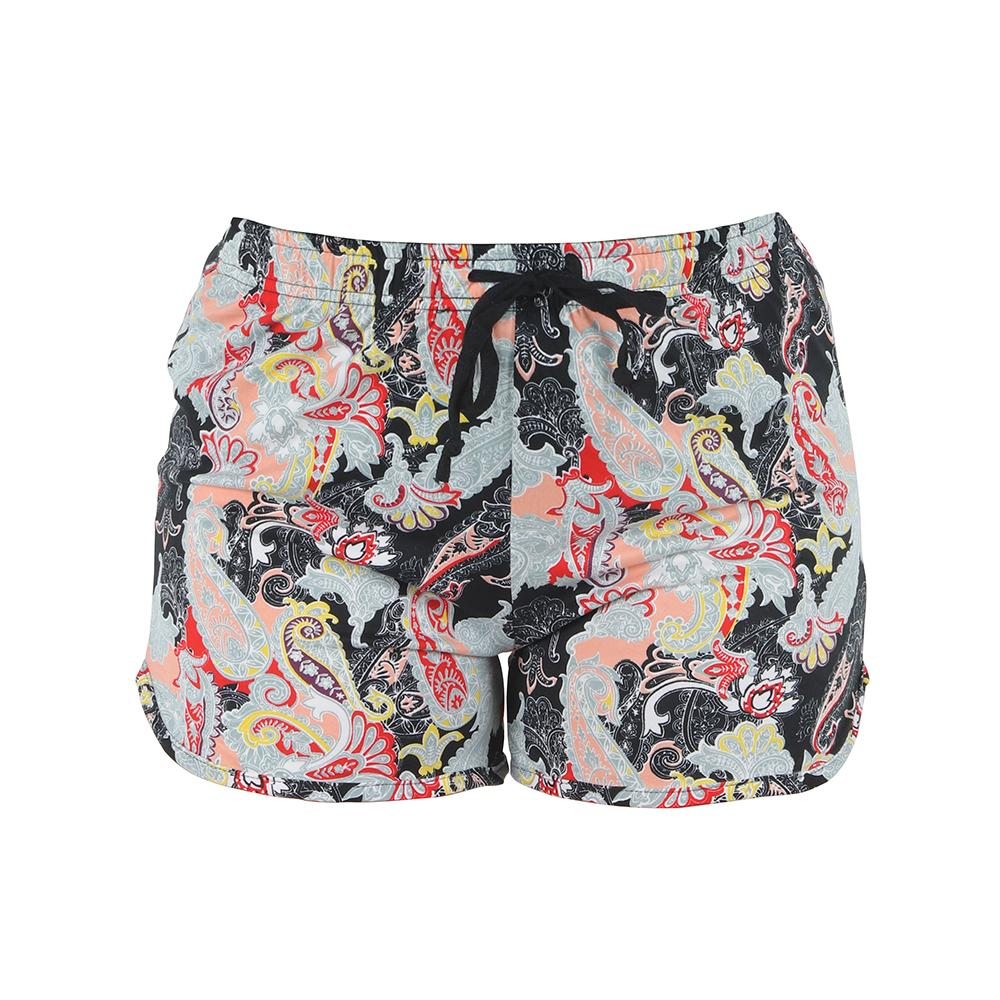 Midnight Paisley Leisure Time Lounge Shorts by Hello Mello