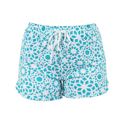 Tranquil Turquoise Leisure Time Lounge Shorts by Hello Mello