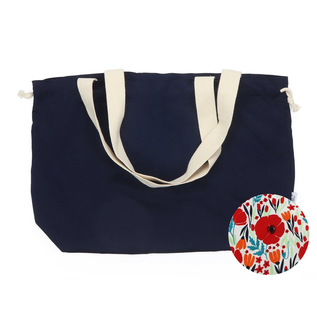 Hello Mello Reversible Drawstring Tote Bag