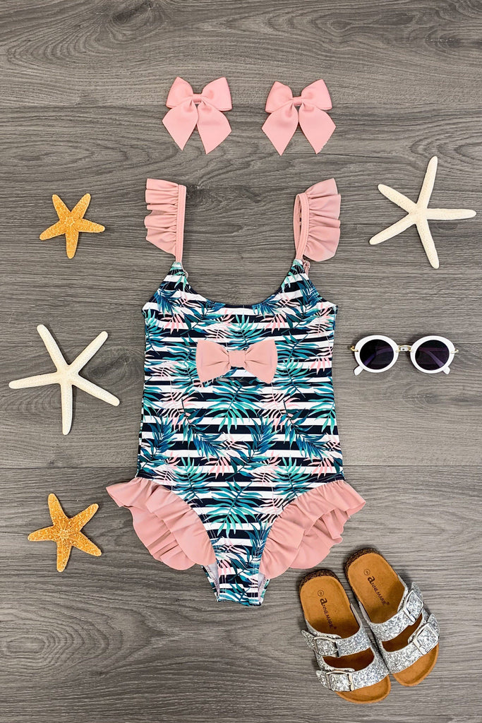 Blush Tropical Swimsuit KIDS