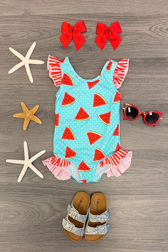 Polka Dot Watermelon One Piece Swimsuit