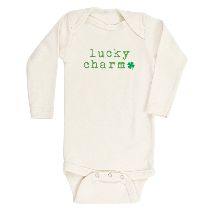 Tenth and Pine - Lucky Charm Sharmrock Organic Long Sleeve Onesie