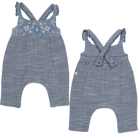 Tiny Twig - Blue Chambray - Sun Suit