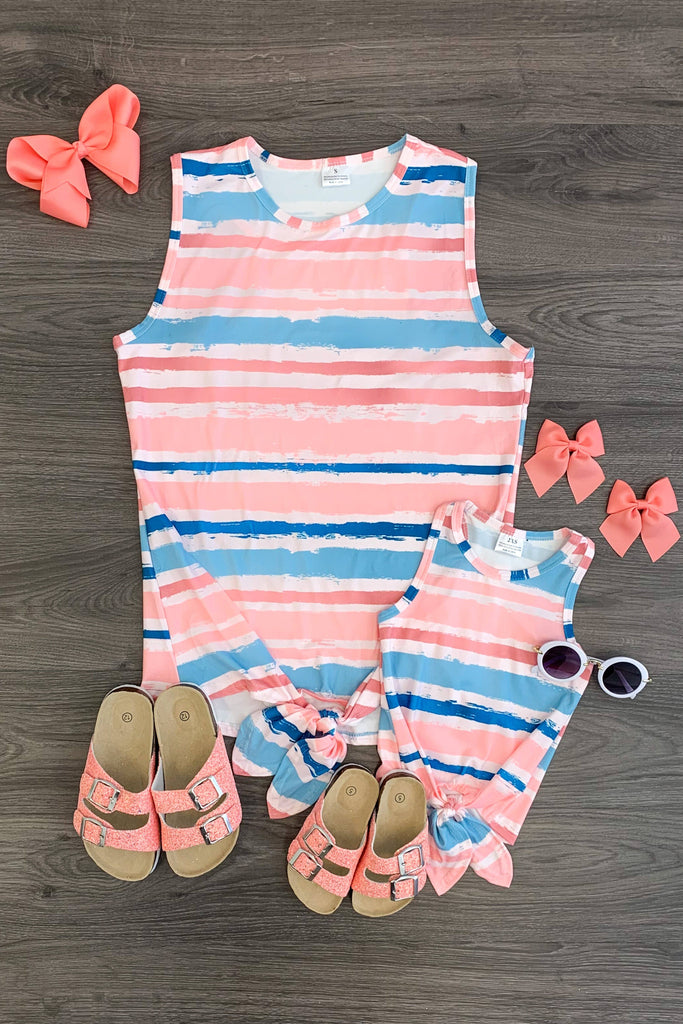 Mom & Me Sunset Stripe Tank