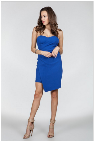 Electric Blue Avenue Dress