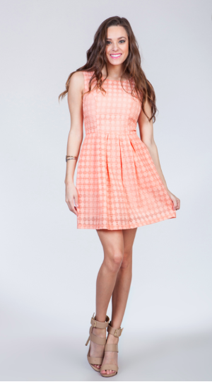Sweet Peach Sleeveless Dress