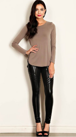 Geo Stripe Leather Leggings (more colors)