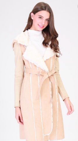 Mountain Getaway Sherpa Belted Coat