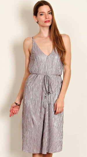 Silver Screen Midi Dress