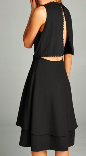 Back Atcha Black Open Back Dress