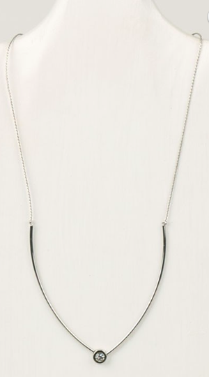 Metallic Bar Crystal Necklace & Earring Set (more colors)
