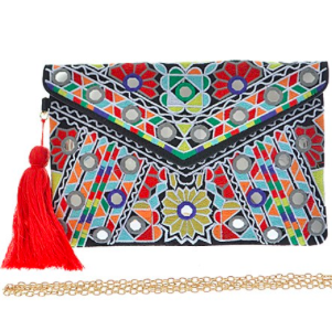 Havana Nights Embroidered Clutch