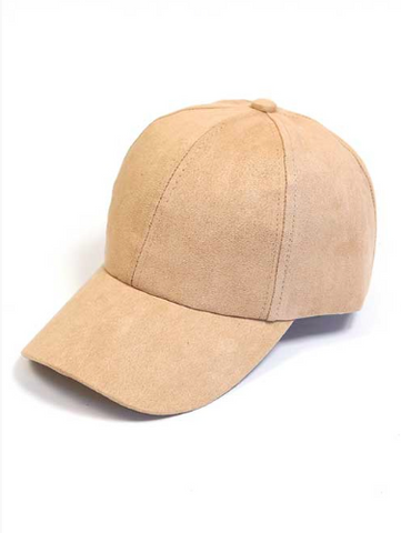 Chic University Suede Baseball Cap