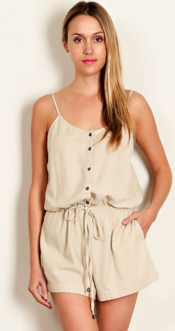 Adventure Anywhere Linen Camisole Romper