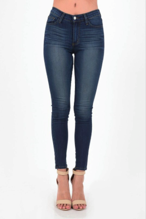 Second Skin High Waist Skinny Jeans