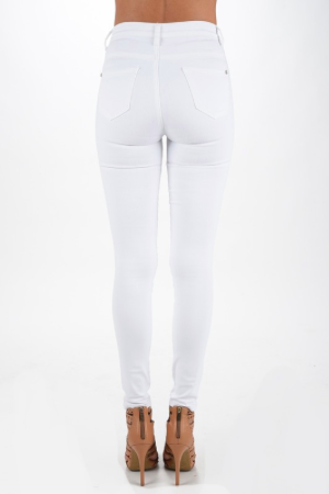 High Noon White High Waist Skinny Jeans