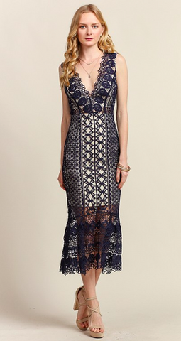Hopeless Romantic Intricate Lace Dress (more colors)