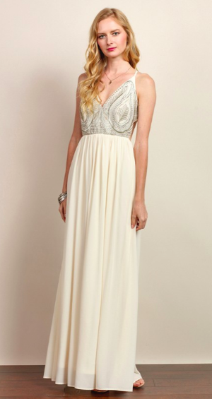 Enchanted Evening Backless Maxi Dress (more colors)