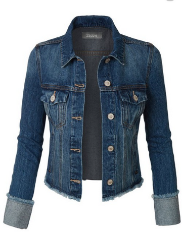 Blue Jean Baby Cropped Denim Jacket