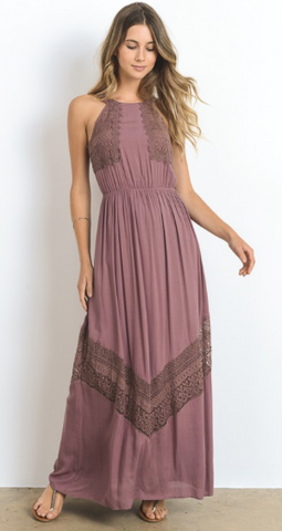 Boho Beauty Crochet Lace Maxi Dress (more colors)