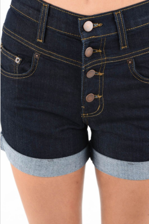 Feeling Fly Dark Denim High Waist Shorts Judy Blue Jeans