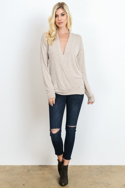 Deep V Wrap Lightweight Sweater (more colors)