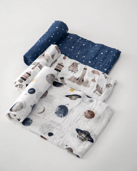 Little Unicorn - GROUND CONTROL Cotton Muslin Swaddle Blanket Set (3 pack)