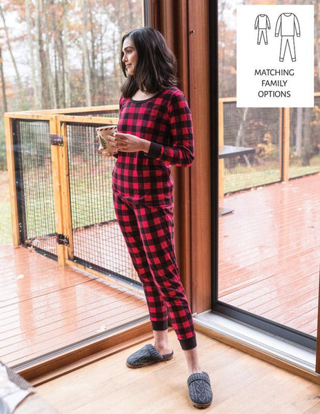 Red & Black Plaid Cotton Pajamas