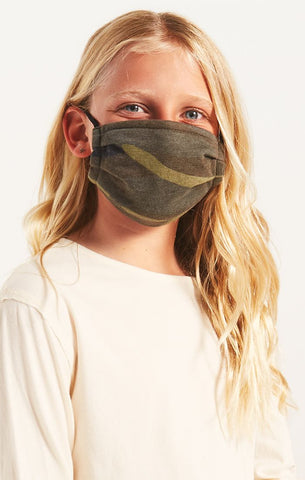 Z SUPPLY - Kids Mask Pack - Green Camo & Black
