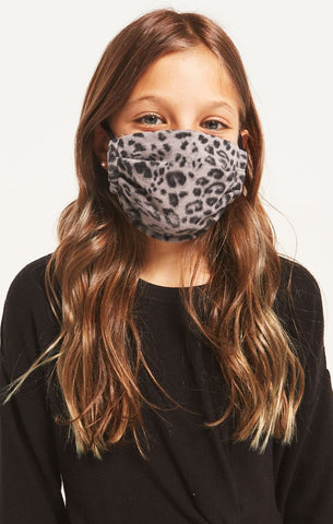 Z SUPPLY - Kids Mask Pack - Grey Leopard & Black