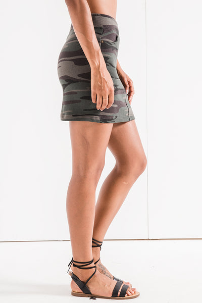 The Forest Camo Knit Mini Skirt by Z SUPPLY